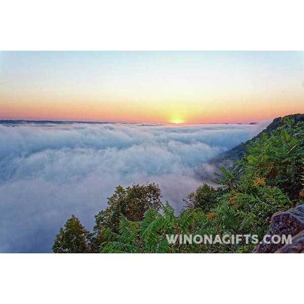 Garvin Heights Foggy Sunrise Winona Minn - Art Print - Kari Yearous Photography WinonaGifts KetoGifts LoveDecorah