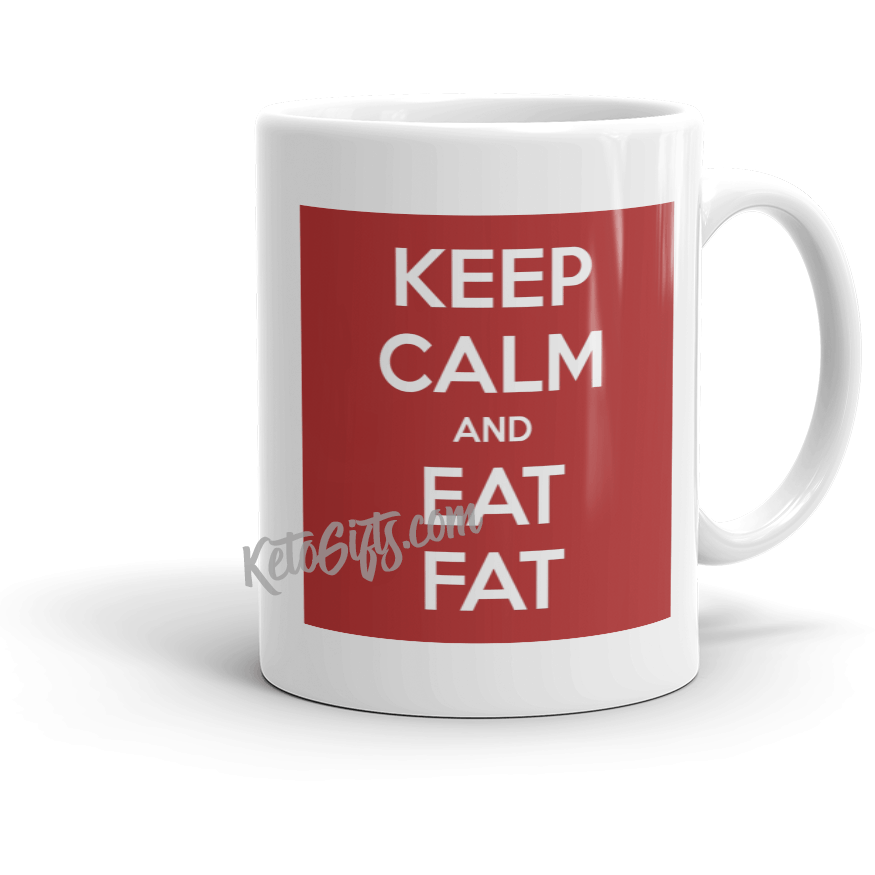 Keto Mug Keep Calm and Eat Fat - Kari Yearous Photography KetoLaughs