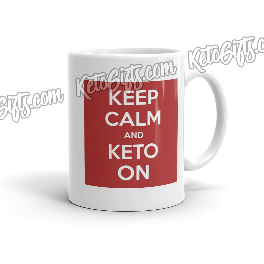 Keto Mug Keep Calm and Keto On - Kari Yearous Photography KetoLaughs