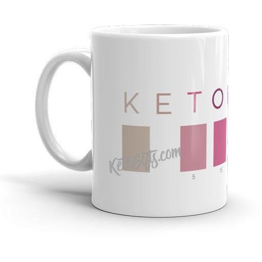 Keto Mug Ketonian Test Strip Colors, Large 15 oz mug - Kari Yearous Photography KetoLaughs