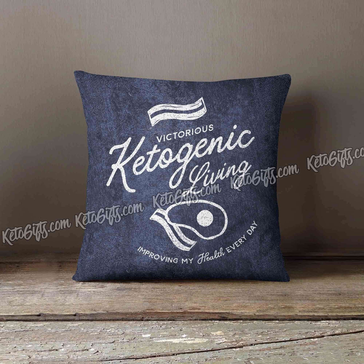 Ketogenic Pillow Keto Gift Victory in Keto by KetoGifts.com