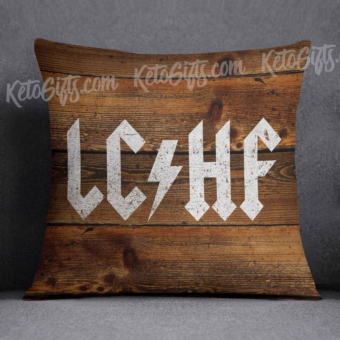 Keto Pillow LCHF ACDC Paint on Wood