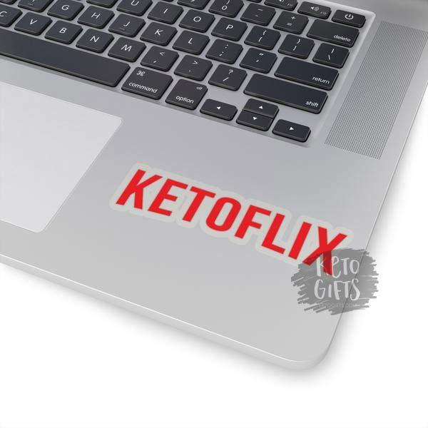 Ketoflix Decal - Funny Keto Decal Netflix - Kari Yearous Photography WinonaGifts KetoGifts LoveDecorah
