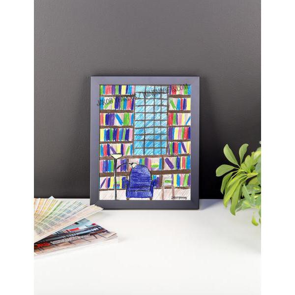 Framed Poster Library Scene by Jakob Yearous - Kari Yearous Photography KetoLaughs