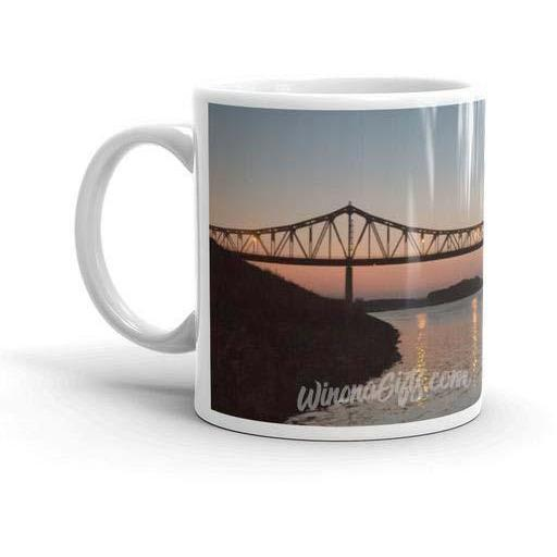 Winona Minnesota Mug Bridge at Sunset - Kari Yearous Photography WinonaGifts KetoGifts LoveDecorah