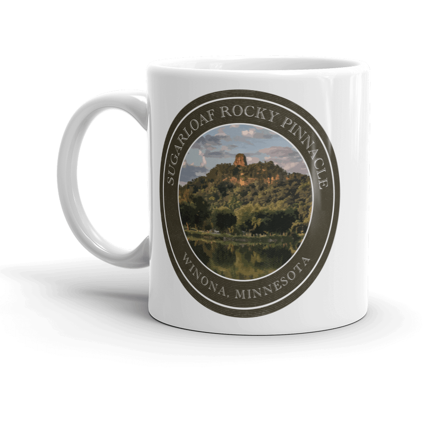 Winona Mug Sugarloaf Badge - Kari Yearous Photography WinonaGifts KetoGifts LoveDecorah