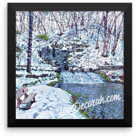 "Poster, Framed, Siewer Spring Decorah, Iowa, 10"" x 10"" - Kari Yearous Photography WinonaGifts KetoGifts LoveDecorah"