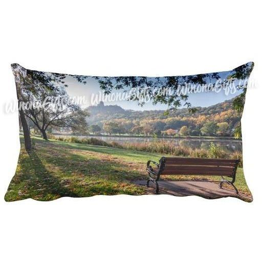 Winona Minnesota Pillow by Kari Yearous Photography Seat with a view of sugarloaf