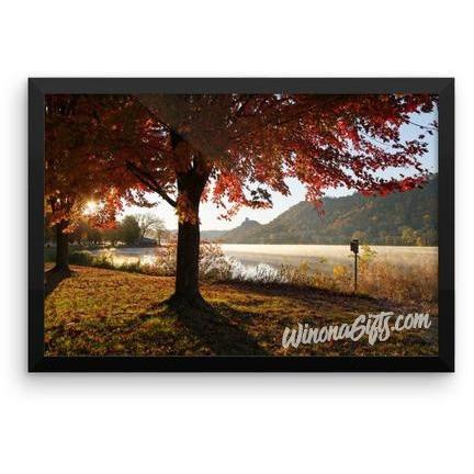 Framed Poster Sugarloaf With Red Fall Colors