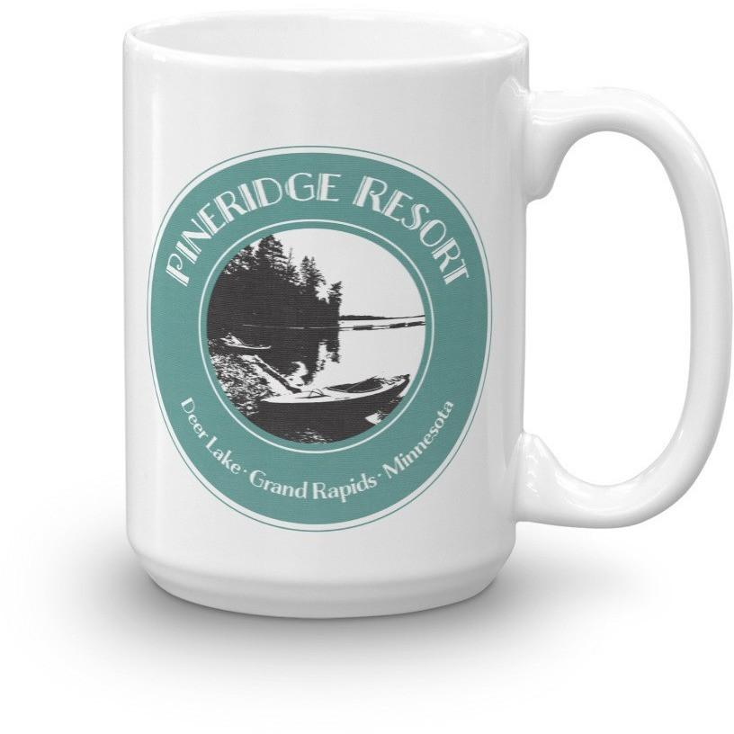 Mug Pineridge Resort Deer Lake Black and White Version - Kari Yearous Photography WinonaGifts KetoGifts LoveDecorah