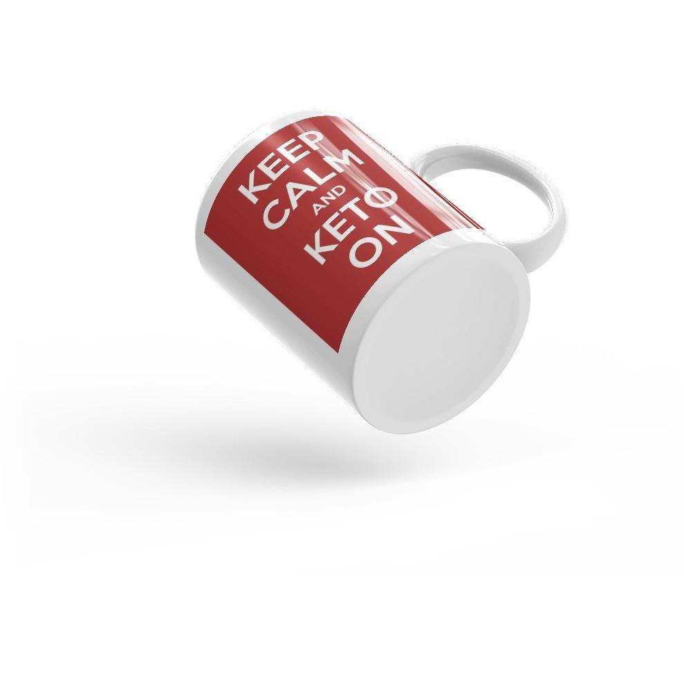 Keto Mug Keep Calm and Keto On - Kari Yearous Photography WinonaGifts KetoGifts LoveDecorah