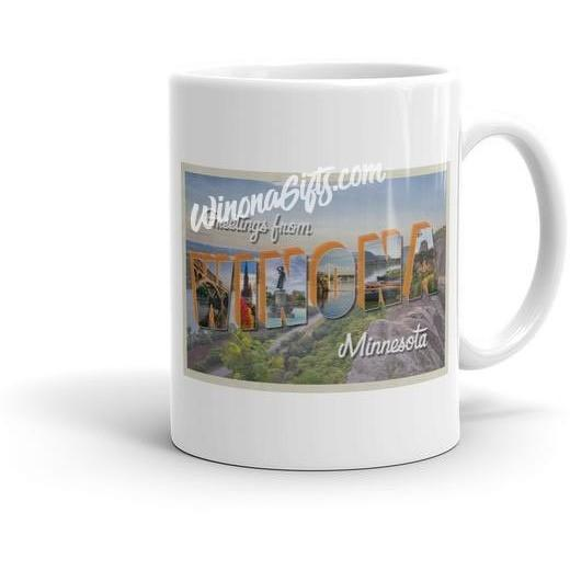 Mug Winona Minn Vintage Window Postcard - Kari Yearous Photography WinonaGifts KetoGifts LoveDecorah