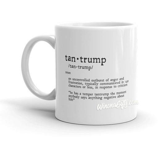 Funny Trump Mug Tantrump 140 Characters Version - Kari Yearous Photography KetoLaughs
