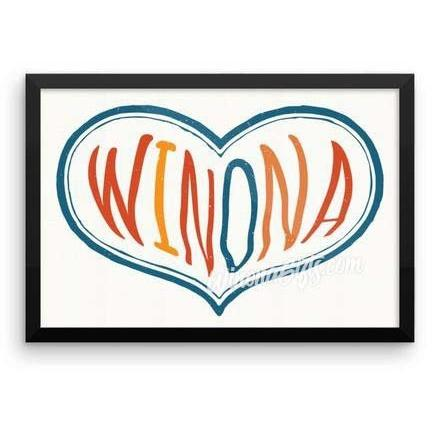 Framed Poster Winona Minnesota Heart - Kari Yearous Photography KetoLaughs