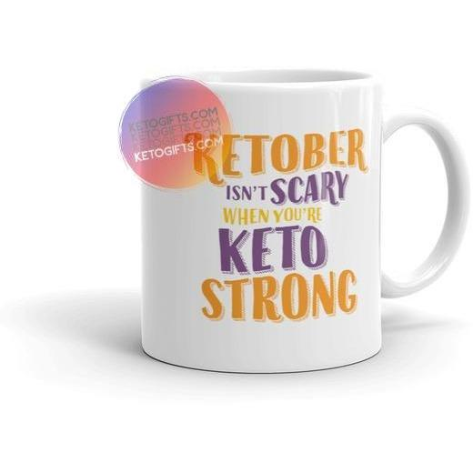 Funny Keto Mug Ketober Isn't Scary - Kari Yearous Photography KetoLaughs