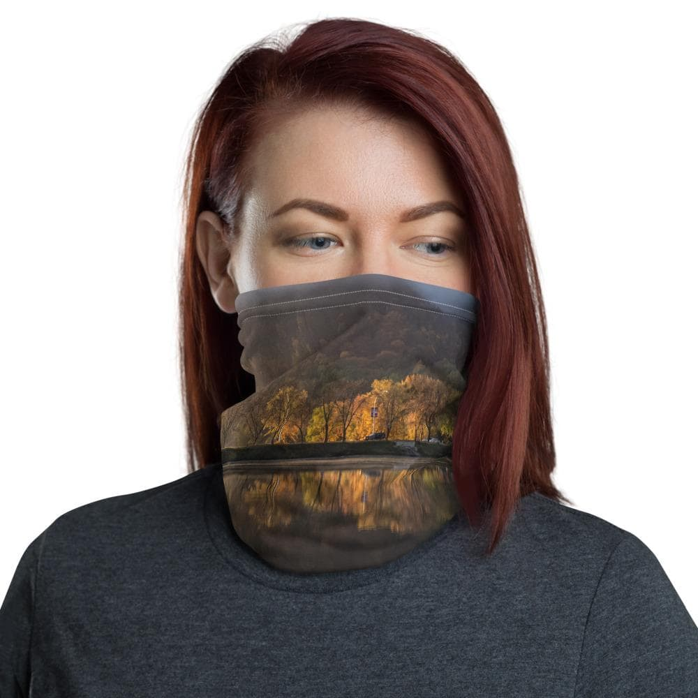 Winona Minnesota Huff Street Neck Gaiter - Kari Yearous Photography WinonaGifts KetoGifts LoveDecorah