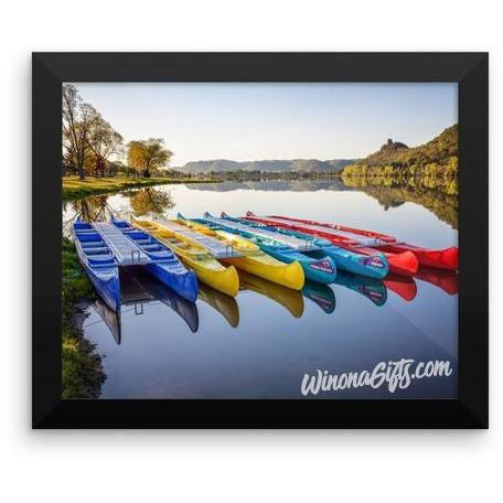 Framed Poster Canoes in the Early Morning Winona Minnesota - Kari Yearous Photography WinonaGifts KetoGifts LoveDecorah