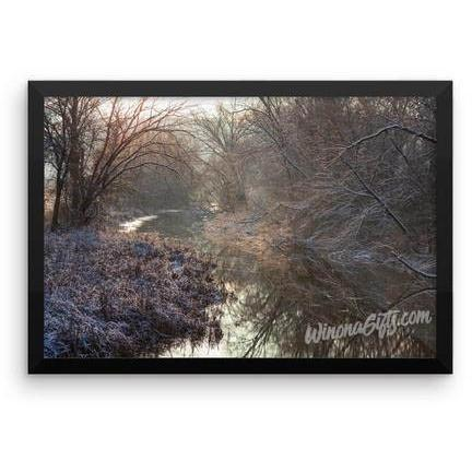 Framed Poster Magical Winter at Gilmore Creek Winona - Kari Yearous Photography WinonaGifts KetoGifts LoveDecorah