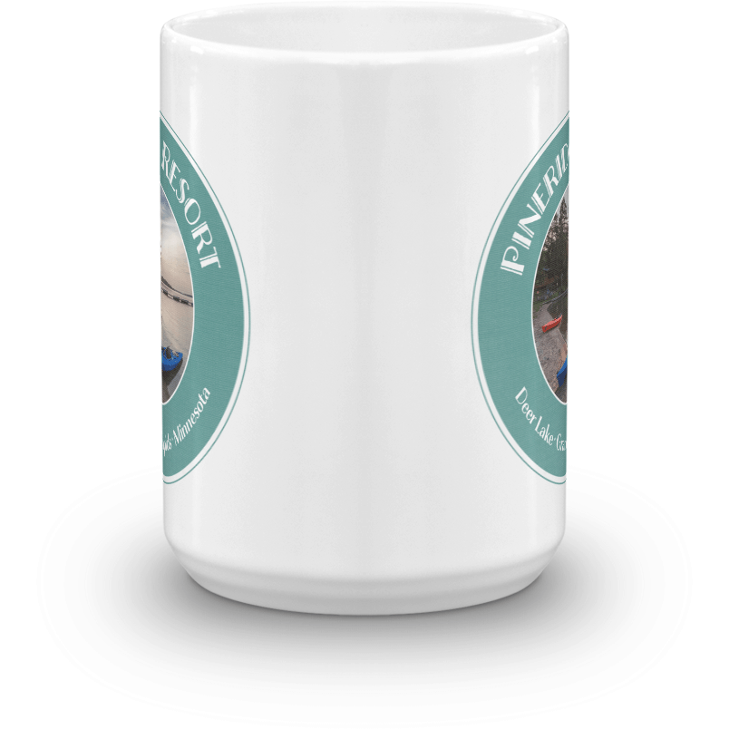 Mug Pineridge Resort Deer Lake Badge, Color Version - Kari Yearous Photography KetoLaughs