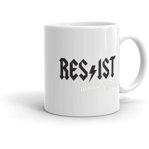 Resist Mug ACDC Spoof - Kari Yearous Photography WinonaGifts KetoGifts LoveDecorah