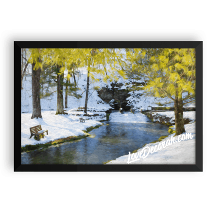 Framed poster, Siewer Spring in Winter, Digital Painting - Kari Yearous Photography WinonaGifts KetoGifts LoveDecorah