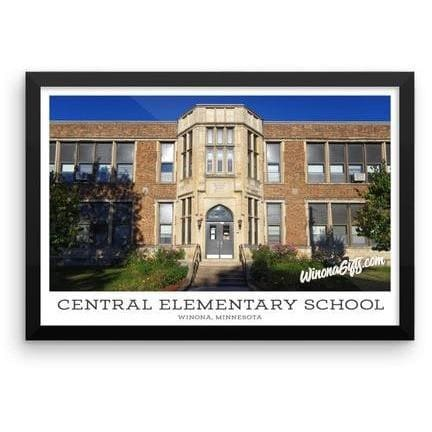 Framed Poster Central Elementary School Winona Minnesota, 12x18 - Kari Yearous Photography WinonaGifts KetoGifts LoveDecorah