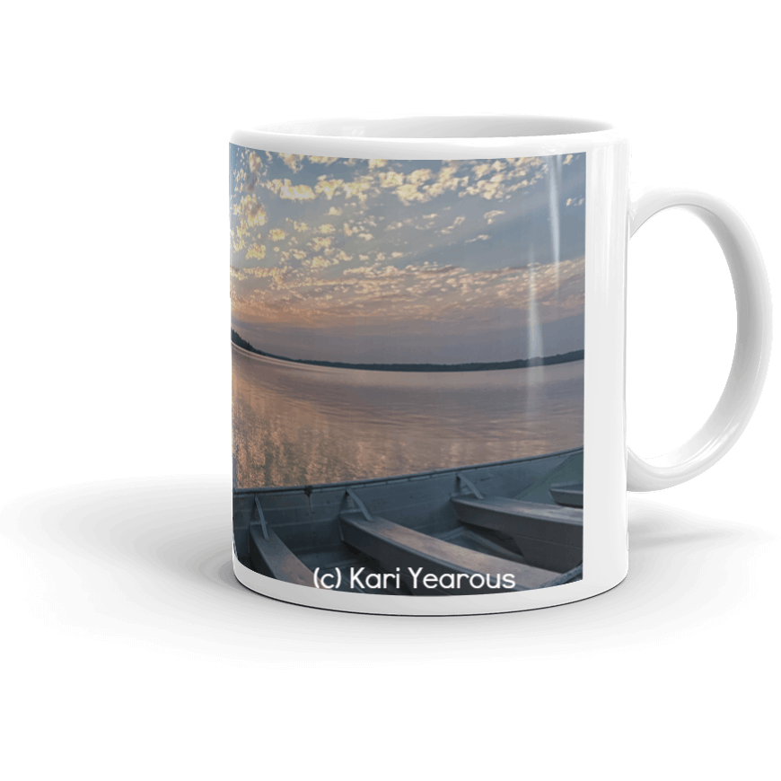 Mug Sunset With Beams at Pineridge Resort Deer Lake - Kari Yearous Photography WinonaGifts KetoGifts LoveDecorah
