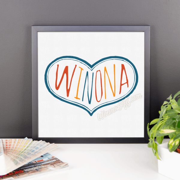 Framed Poster Winona Multicolor Heart - Kari Yearous Photography KetoLaughs
