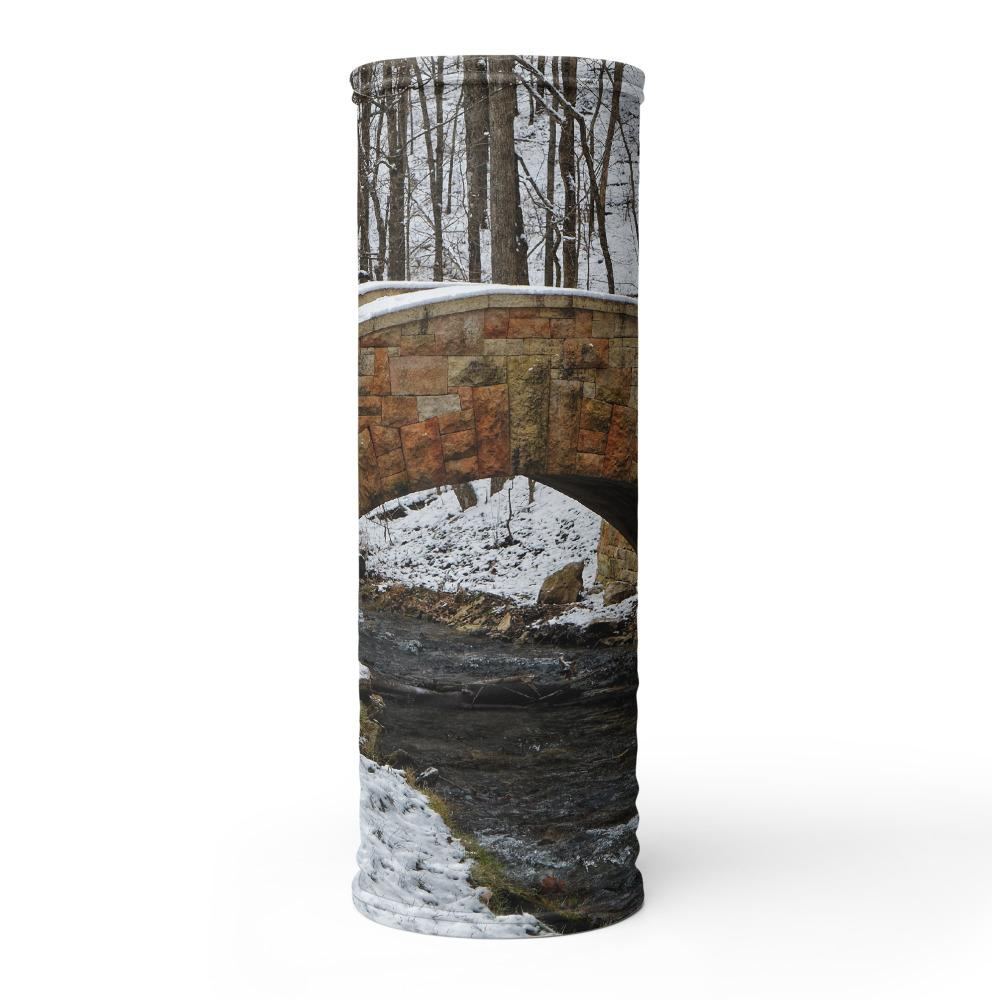 Decorah Iowa Neck Gaiter Dunning Springs Stone Bridge - Kari Yearous Photography WinonaGifts KetoGifts LoveDecorah