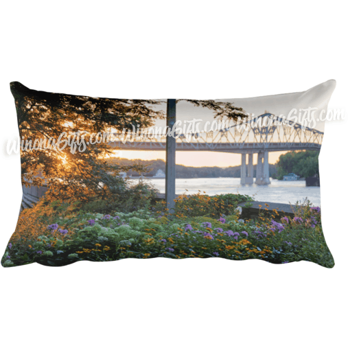 Pillow Winona MN Sunset at Levee - Kari Yearous Photography WinonaGifts KetoGifts LoveDecorah