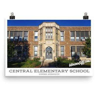 "Poster Central Elementary School Winona Minnesota, 12"" x 18"" - Kari Yearous Photography WinonaGifts KetoGifts LoveDecorah"