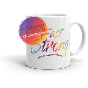 Fasting Encouragement Mug for Keto Intermittent or Extended Fasting - Kari Yearous Photography KetoLaughs