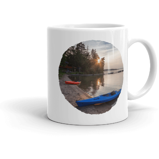 Mug Pineridge Resort Deer Lake Early Sunset - Kari Yearous Photography WinonaGifts KetoGifts LoveDecorah