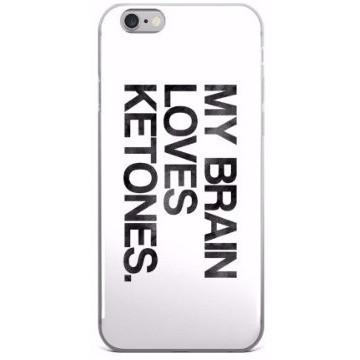 iPhone 5/5s/Se, 6/6s, 6/6s Plus Case, Keto Phone Case Brain Loves Ketones Black Ink Look - Kari Yearous Photography WinonaGifts KetoGifts LoveDecorah