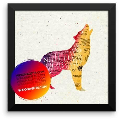 Framed Poster Nevertheless She Persisted - Kari Yearous Photography WinonaGifts KetoGifts LoveDecorah