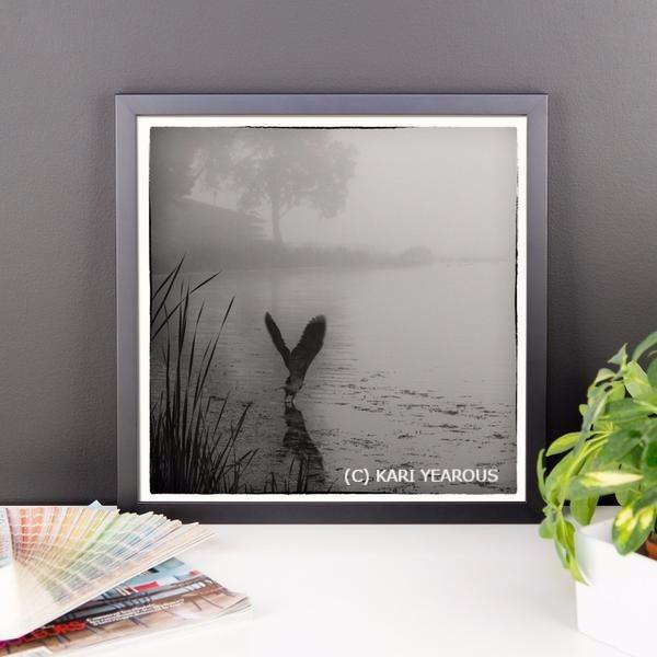 Framed Poster Heron at East Lake Winona - Kari Yearous Photography KetoLaughs