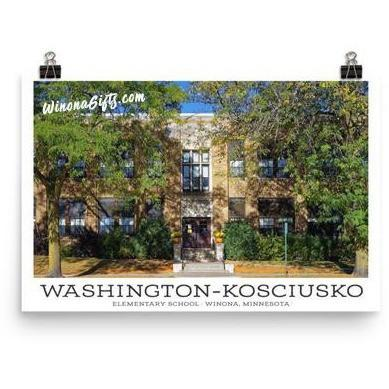 Poster Washington-Kosciusko Elementary School Winona MN - Kari Yearous Photography WinonaGifts KetoGifts LoveDecorah