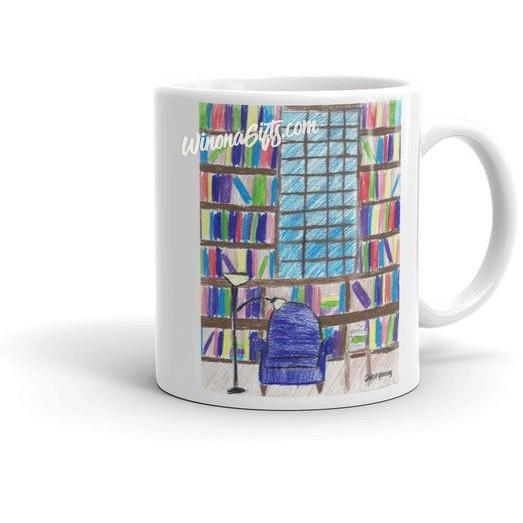 Book Lovers' Mug Library Scene - Kari Yearous Photography KetoLaughs