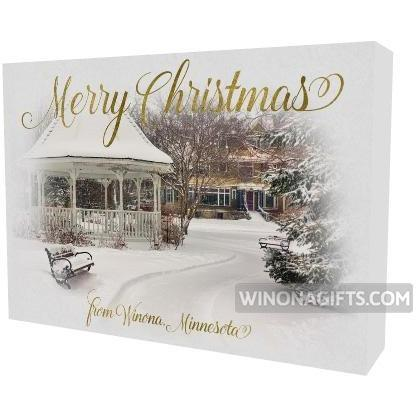 "Canvas Wrap 5""x 7"" Merry Christmas Gazebo - Kari Yearous Photography WinonaGifts KetoGifts LoveDecorah"