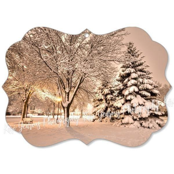 Winona Christmas Ornament Magical Snowy Night Windom Park