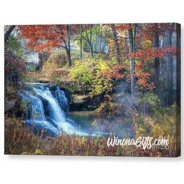 Pickwick Mill Falls in Autumn - Canvas Print - Kari Yearous Photography KetoLaughs
