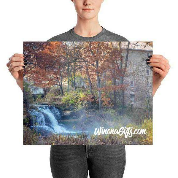 Pickwick Mill in the Fall in PIckwick Minnesota Print - Kari Yearous Photography WinonaGifts KetoGifts LoveDecorah