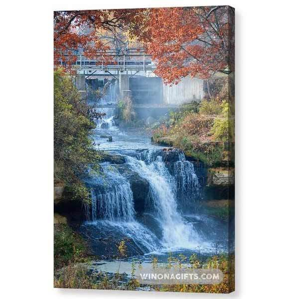 Falls At Pickwick Mill - Canvas Print - Kari Yearous Photography WinonaGifts KetoGifts LoveDecorah