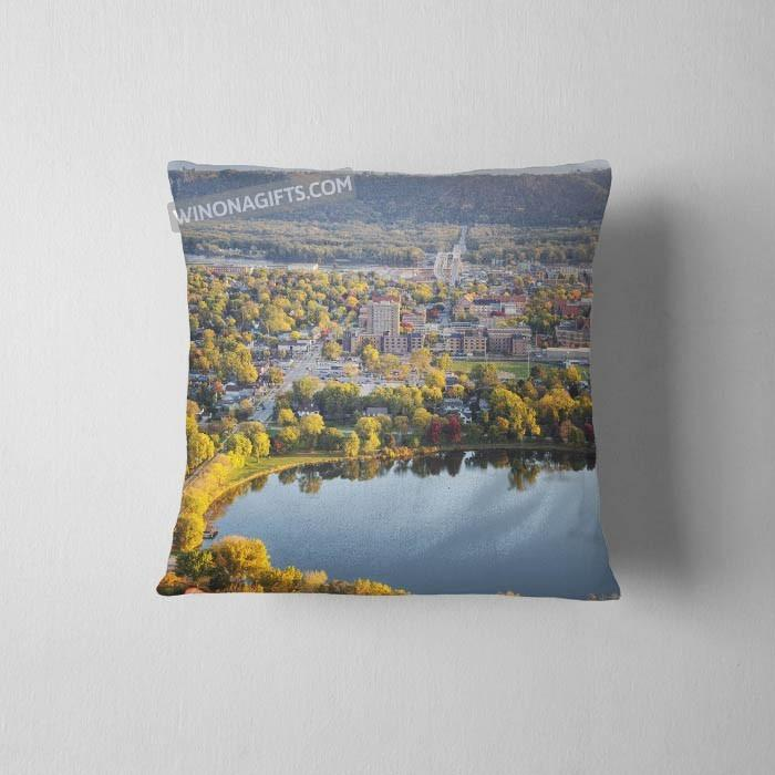 Winona MN Pillow Fall View from Garvin Heights - Kari Yearous Photography WinonaGifts KetoGifts LoveDecorah