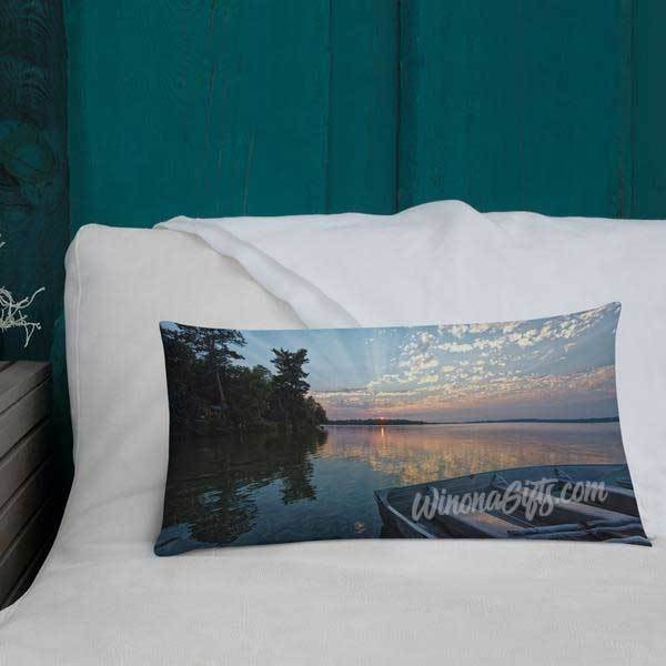 Deer Lake Grand Rapids Minnesota Pillow - Kari Yearous Photography WinonaGifts KetoGifts LoveDecorah