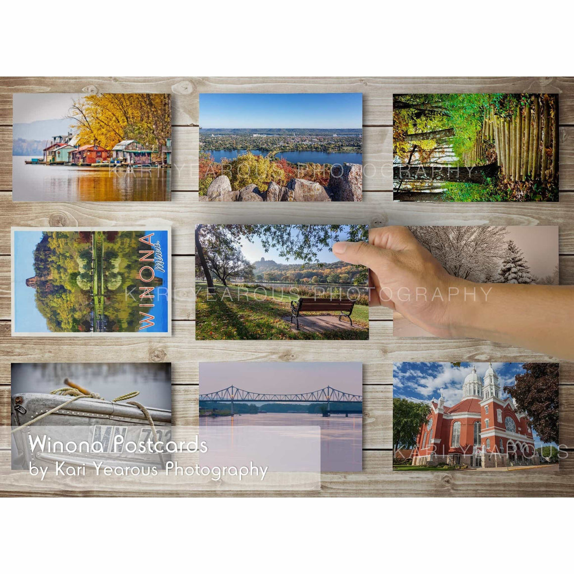 winona minnesota postcards by Kari Yearous Photography