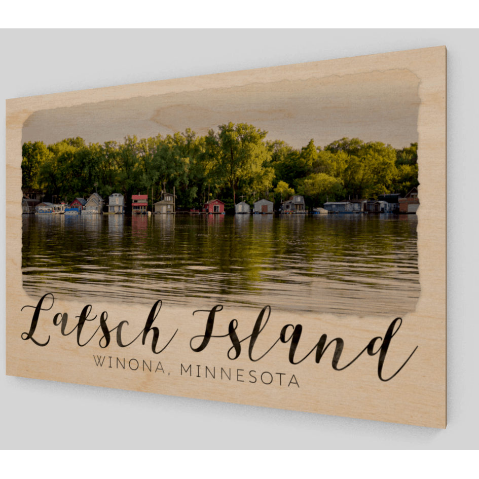 Latsch Island Boathouses with text - Kari Yearous Photography KetoLaughs