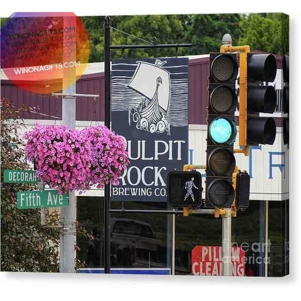 Pulpit Rock Brewing Company Decorah Iowa - Canvas Print - Kari Yearous Photography WinonaGifts KetoGifts LoveDecorah