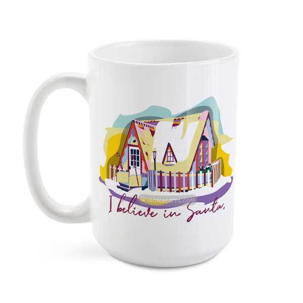 I Believe in Santa Winona Minnesota Coffee Mug, 15 oz