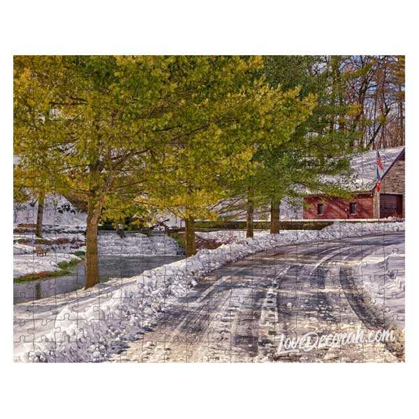 Decorah Iowa Puzzle Snowy Siewer Springs Road